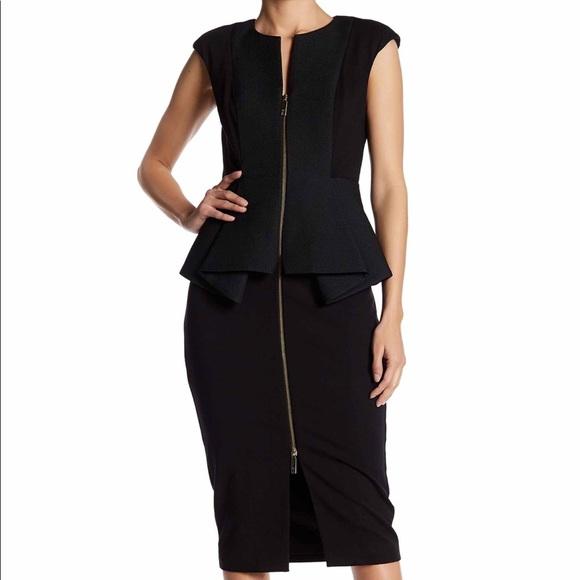 2e851bc9f1bdc Ted Baker London Jumana Textured Peplum Dress